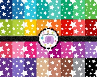 Crazy Star Digital Papers, bright digital paper, stary digital paper, digital scrapbook paper, Instant Download, Commercial Use