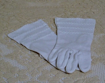 Vintage 50s Dress White Gloves