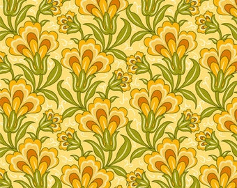 1 Yard of Anthology II Yellow Floral by Color Principle for Henry Glass