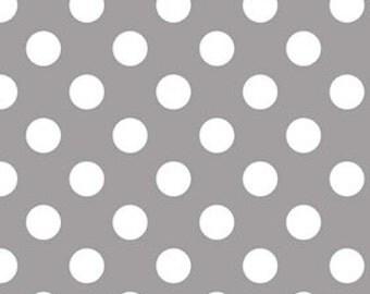 Basic Medium Dots in Grey by Riley Blake