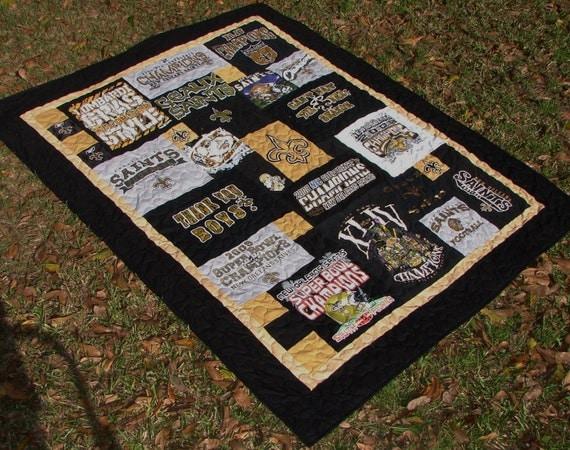 New Orleans Saints Themed T-shirt Quilt... Who Dat Saints
