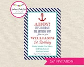 DIY, Nautical Party INVITATION
