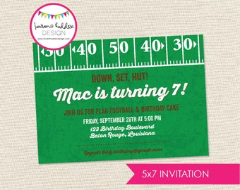 DIY, Football Party INVITATION
