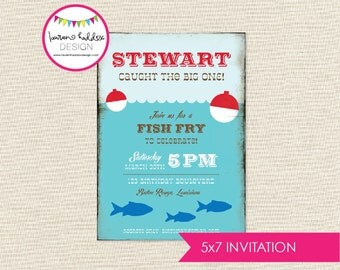 Gone Fishing Birthday, Gone Fishing Birthday Invitation, Fishing Printables, Fishing Decorations, First Birthday, Lauren Haddox Designs