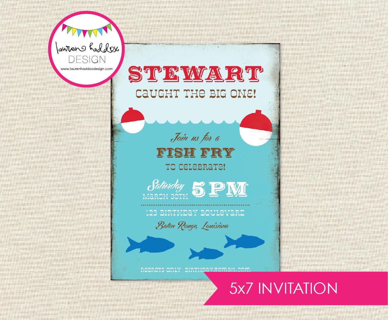 Gone fishing birthday gone fishing birthday invitation for Fishing birthday invitations