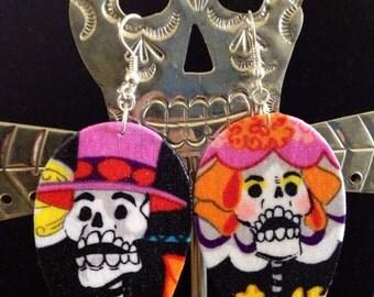 Skeleton Sugar Skull Couple Day Of The Dead (Dia De Los muertos)