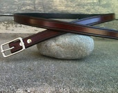 Skinny Classic Brown Leather Belt