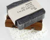 All Natural Clarifying Facial and Body Soap, Vegan Friendly, Cold Process Soap with Tea Tree, Lavender and Chamomile