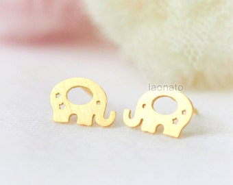 Elephant Earrings / Choose your color / gold and silver