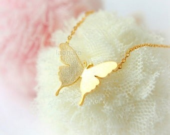 Swallowtail Butterfly Necklace / choose your color, gold and silver