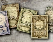 French Book Pages Antique Shabby Chic Engravings ACEO ATC Old Backgrounds Decoupage Digital Collage Sheet Download 170