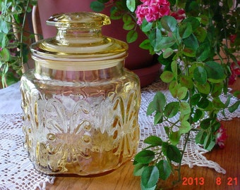 Vintage Gold Imperial Glass Canister