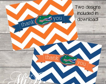 Florida Gator Thank You - Instant Download