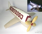 Sewing pattern. Tutorial PDF Airplane Night Lights. Yourself Kids Decor Easy Patterns Plane Sewing