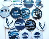 15 Seattle Seahawks Football Party Picks - Cupcake Toppers - Toothpicks - Food Picks - die cut punch FP410
