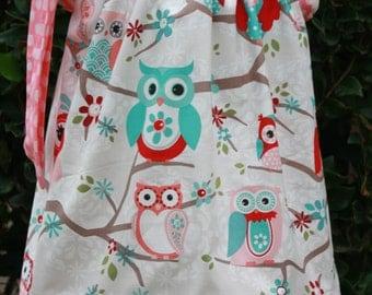 Spring Owl Pillowcase Dress