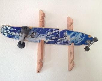 Skateboard Longboard Wall Rack Mount -- Holds 3 boards