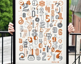 The Numbers 2 Typography Poster