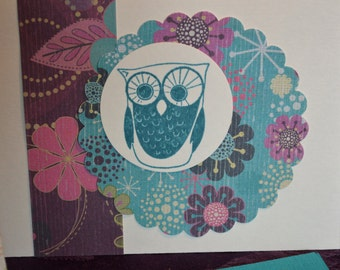 Owl birthday cards - set of 6