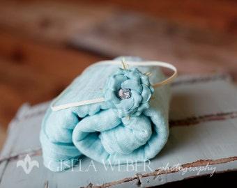 Blue Baby Wrap Set, Newborn Wrap Set, Blue Baby Wrap, Blue Cheesecloth, Blue Newborn Wrap, Girl Wrap Set