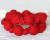 Teething Necklace in Scarlet Red