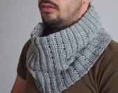 Crochet PATTERN men cowl,  men neckwarmer, loop scarf, man, woman scarf, DIY tutorial Instant download
