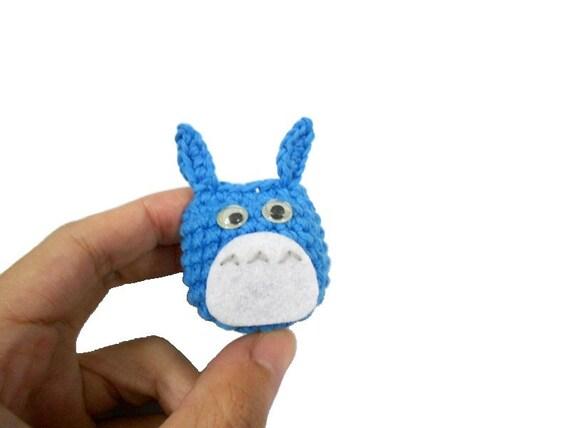 Amigurumi Penguin Cell Phone Strap : Amigurumi Totoro BLUE crochet Bag charm Phone charm 100% ...