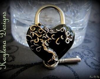 Large Heart Lock,Tree of Life lock, BDSM Lock, lock and key, locking Jewelry