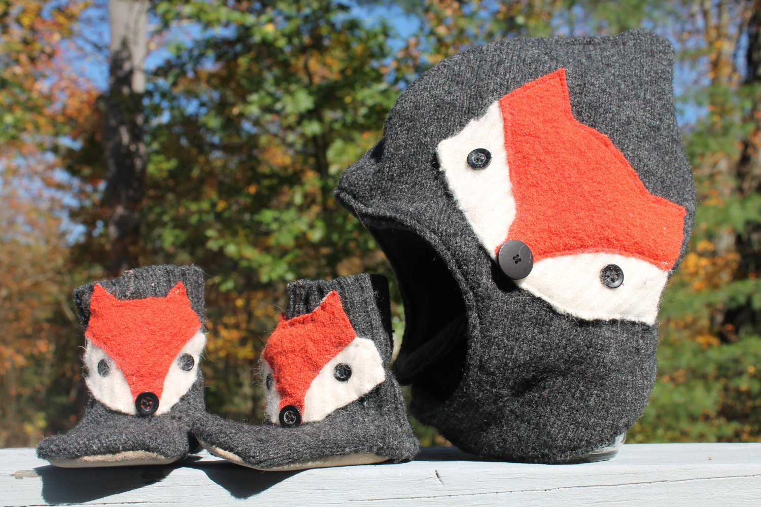 Baby Gnome: Wool Baby Hat Fox Woodland Toasty Gnome Baby / Toddler Pixie