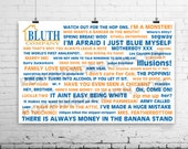 11X17 Arrested Development Quote Poster BLUTH COMPANY