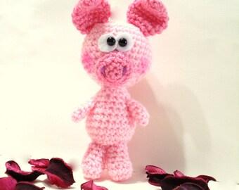 PDF Crochet Pattern, Baby Pig Pattern, Crochet Tutorial, Amigurumi Piggy Pattern - Crochet Pig Pdf Tutorial