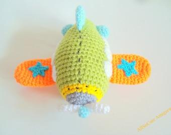 PDF Crochet Pattern - Airplane Pattern, Instant Download, Crochet tutorial, Crochet Airplane