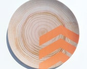 "Modern Wood Simple Chevron 10"" Melamine Plate, Miami Orange"