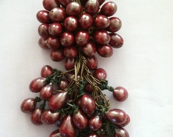 Vintage Wired Dangling Seed Pearl Berry Cluster Brooch Pin