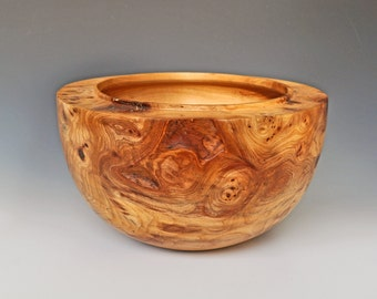 Turned Elm burl bowl