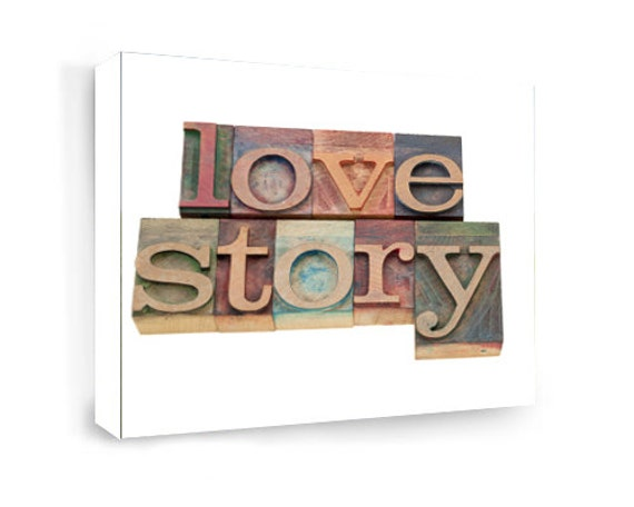 Framed Love Wall Decor : Framed canvas print love story wall art signs digital plaque