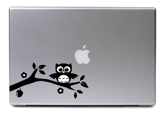 macbook eule auf ast mit bl ttern mutter blume apple logo. Black Bedroom Furniture Sets. Home Design Ideas
