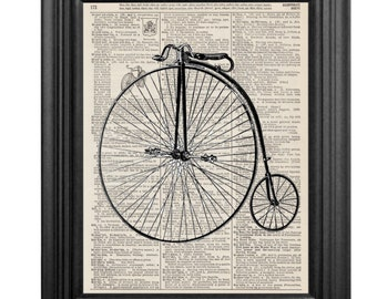 Dictionary Art Print - Vintage Bicycle