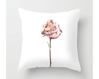 Rose Throw Pillow Covers