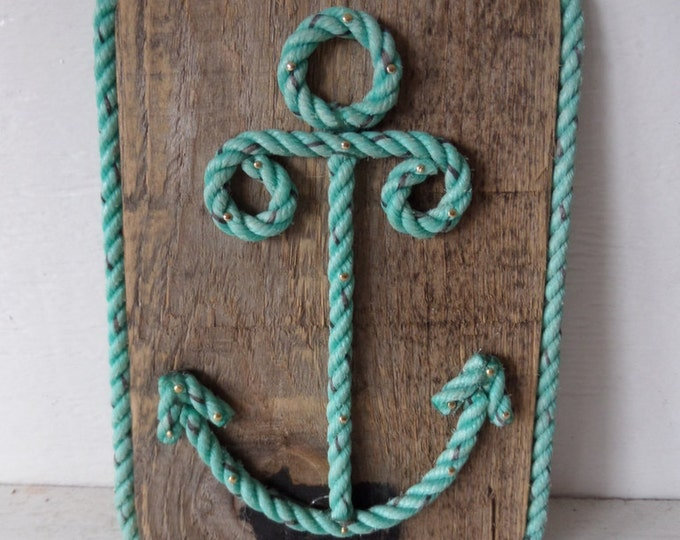 Pallet Wood with Rope Shaped Anchor Nautical Decor Wall Hanging Sign Nautical Nursery