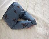 SALE Deer, Fawn, Blue, Grey, Brown, Animal, Baby Boy or Girl Leggings, Legging, Pants