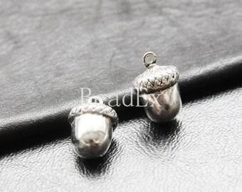 6pcs / Acorn / Oxidized Silver Tone / Base Metal / Charm (Y20297//E289)