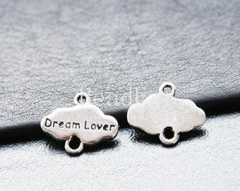 20pcs / Dream Lover / Oxidized Silver Tone / Base Metal / Links (YA5316//O82)