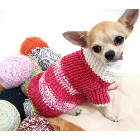 items similar to pink dog sweater xxs puppy clothes chihuahua jumper cat clothing kitten cottton. Black Bedroom Furniture Sets. Home Design Ideas