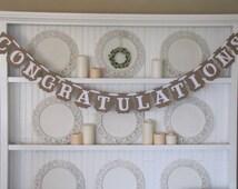 CONGRATULATIONS Banner for Weddings, Anniversaries, Graduations, Parties