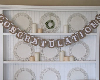 CONGRATULATIONS Banner, Congratulations Sign, Wedding Sign, Anniversary Sign, Graduation, Congrats