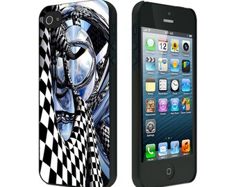 iPhone 4/4S case, iPhone 5 Case, iPhone 6, Black or White, Abstract Black White Checkerboard