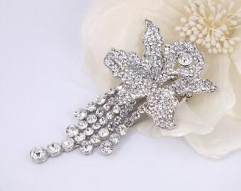 Crystal Orchid-Swarovski Rhinestone Bridal Comb