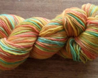 Handspun Yarn, Handpainted Yarn, Summer Fruit, 272 yards, 10 wpi, Worsted Weight