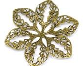 Filigree : 10 Antique Bronze Filigree Flower Connectors | Brass Filigree Links Stampings ... Lead, Nickel & Cadmium Free 14810.B35